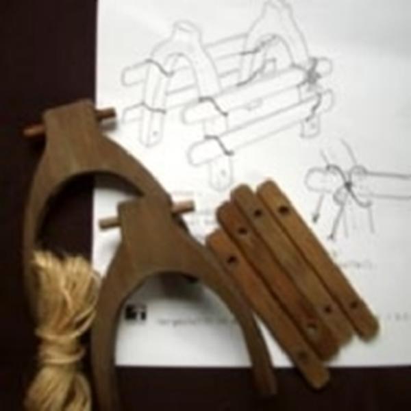 Bild von Holzsattel für Esel