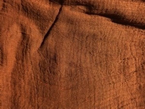 Bild von Gazestoff kaffeebraun
