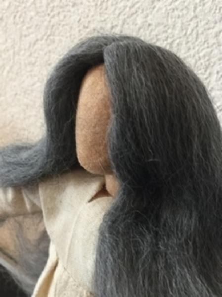 Bild von Perücke Alpaka grau
