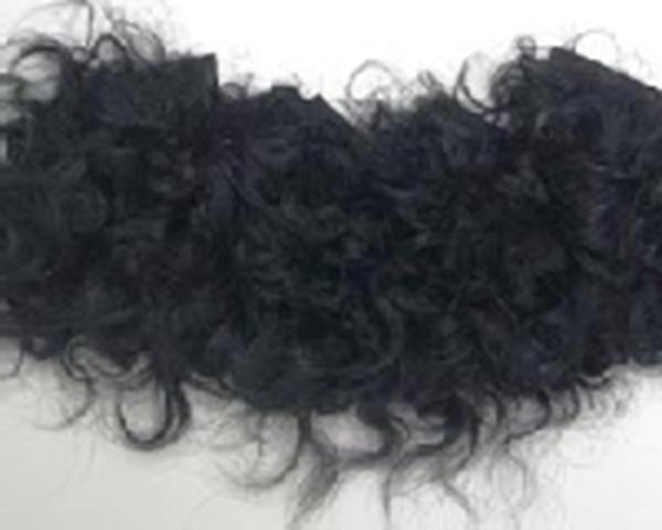 Bild von Fellperücke schwarz  mit Bart