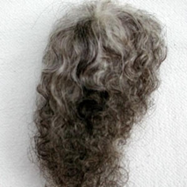 Bild von Perücke grau-meliert, Dauerlocken