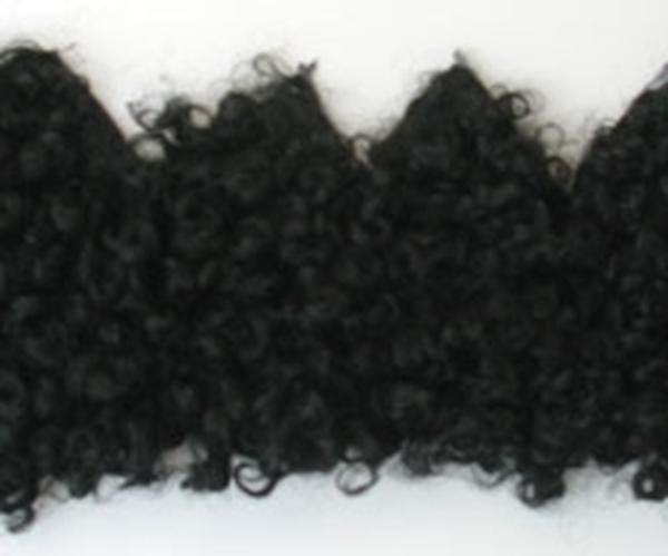 Bild von Fellperücke schwarz kraus kurz