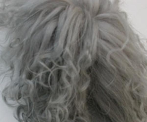 Bild von Fellperücke grau