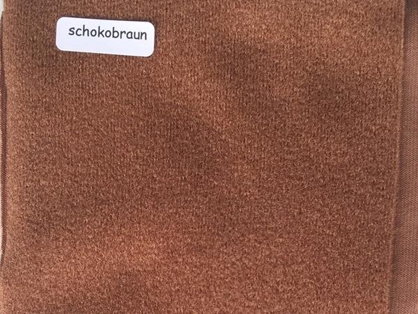Bild von Duvetine schokobraun 100 x 120cm