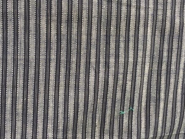 Bild von Baumwollstoff schwarz-grau gestreift  30x90cm eher dünn