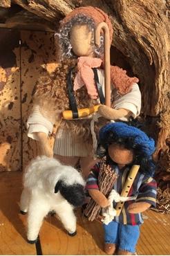 Bild für Kategorie Hirte mit Kind und Schaf