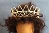 Bild von Edle filigrane Krone goldfarben 45mm Ø